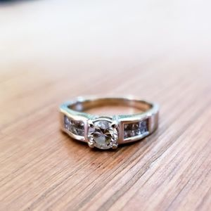 Vintage Cathedral Style Engagement Ring